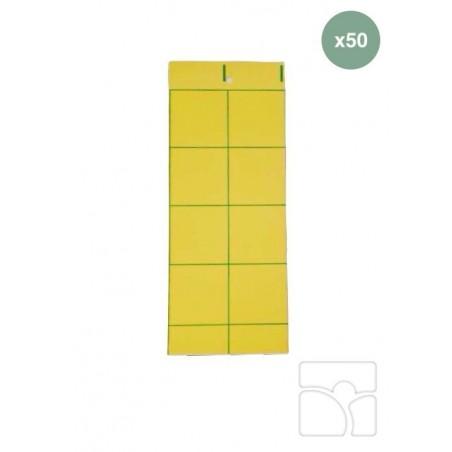 Tablica lepowa - żółta - ZESTAW 50 szt. - mączlik szklarniowy (biała mucha)